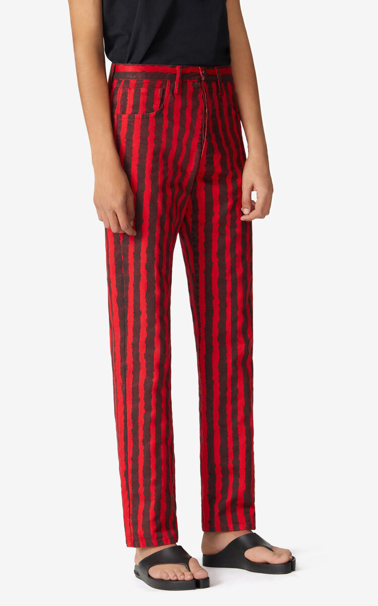 MEDIUM RED Striped jeans for men KENZO