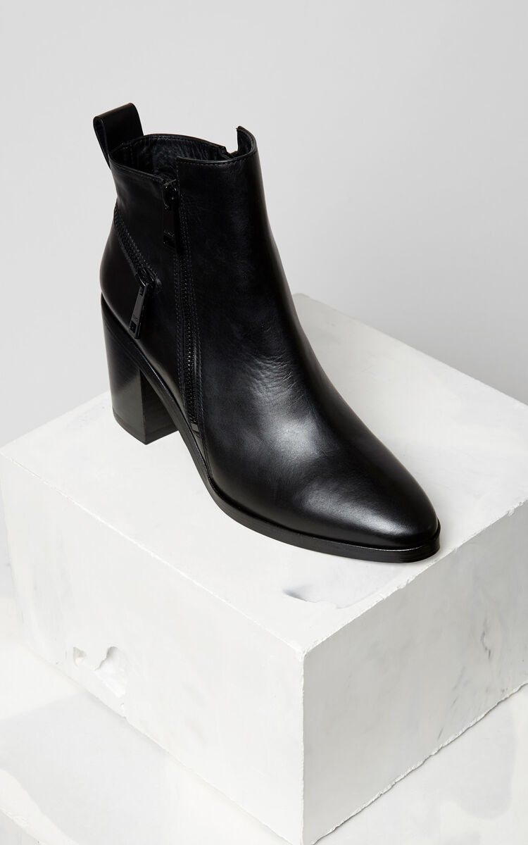 BLACK Totem Heeled Boot for women KENZO
