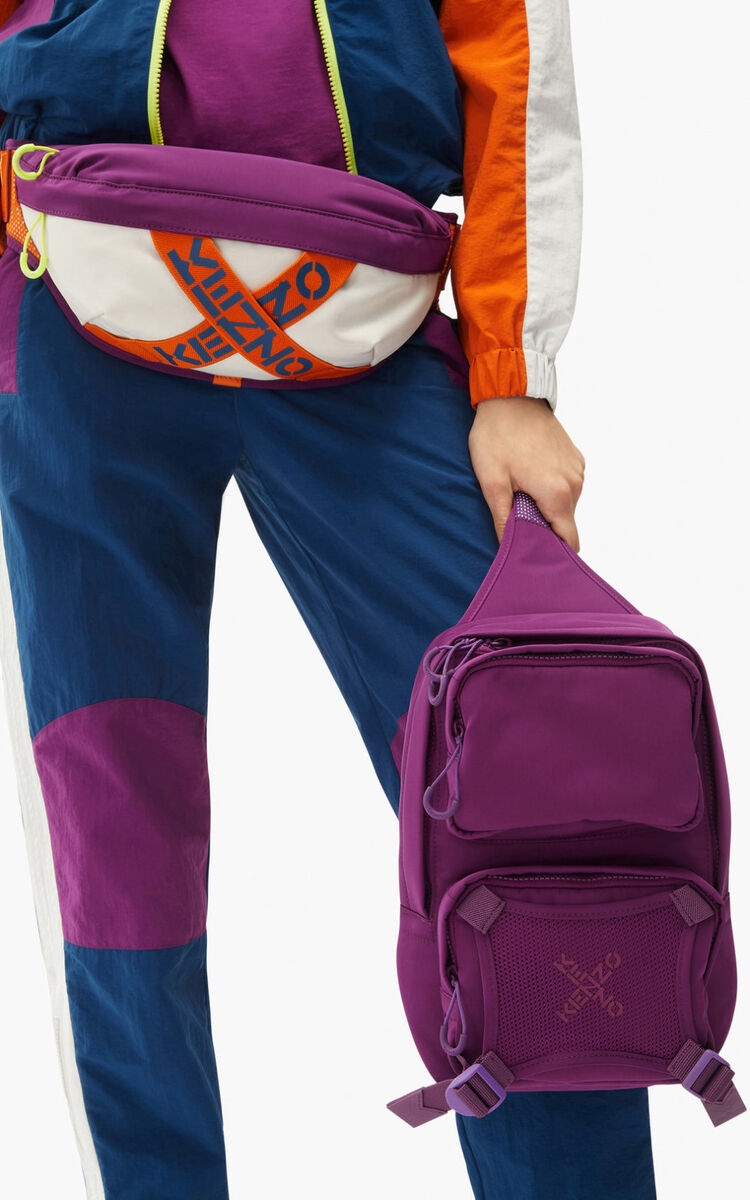 PURPLE KENZO Sport backpack with strap  for men
