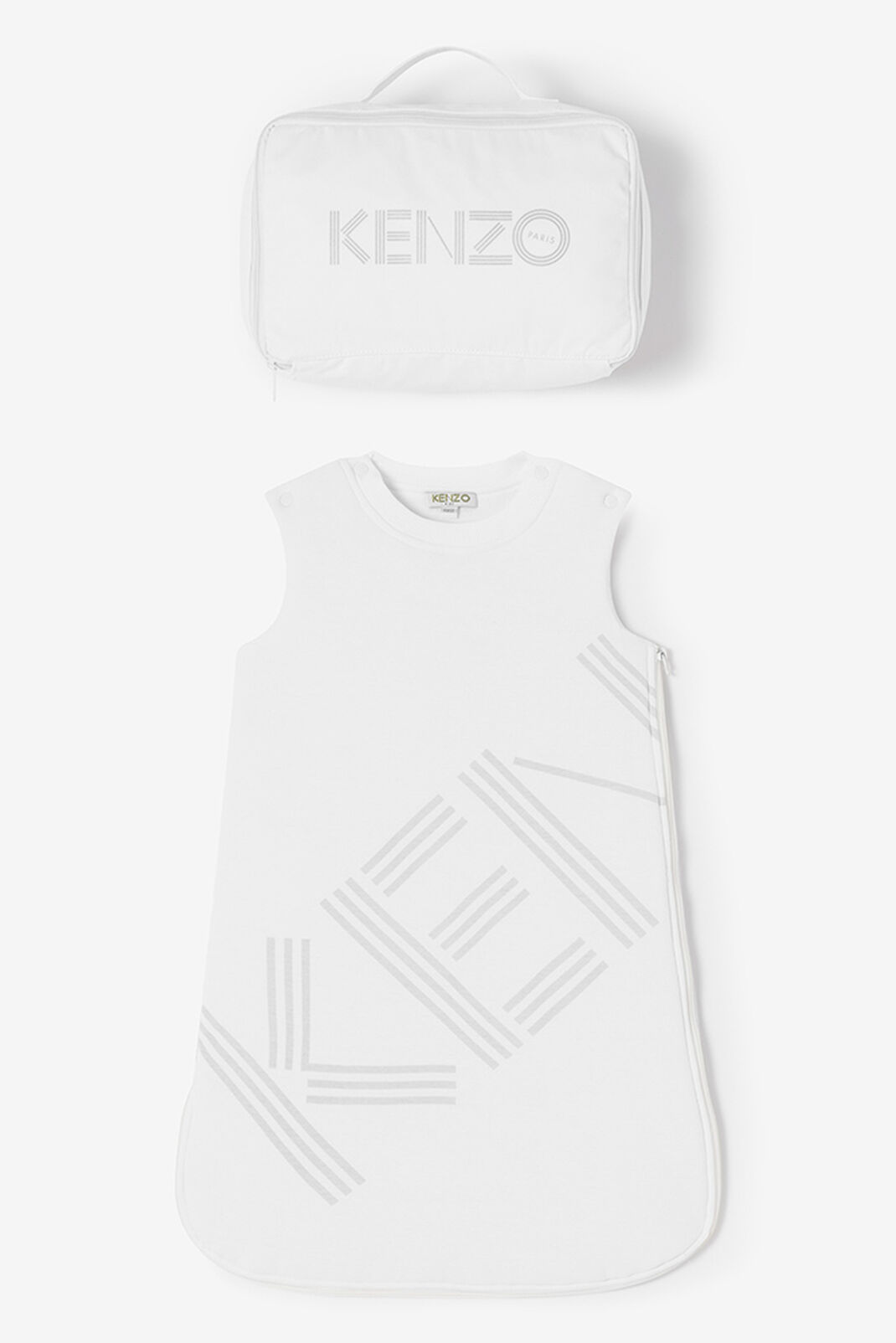 WHITE KENZO Logo Sleeping Bag for women
