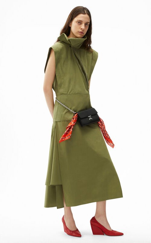 OLIVE Long flared dress for women KENZO