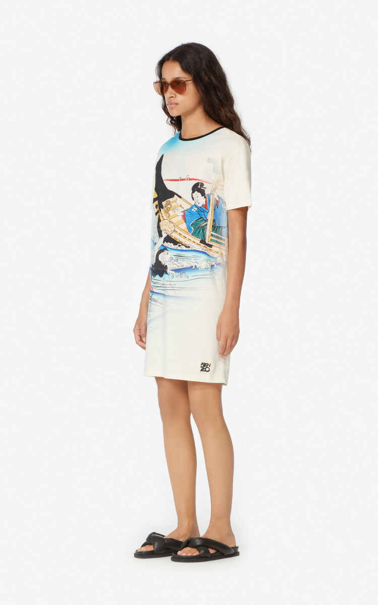 ECRU 'Ama Divers' T-shirt dress for women KENZO
