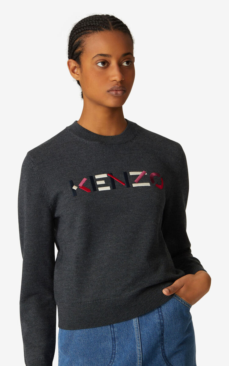 STONE GREY KENZO Logo multicoloured jumper for women