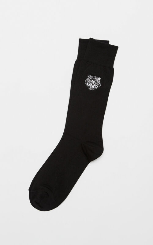 BLACK Tiger socks for unisex KENZO