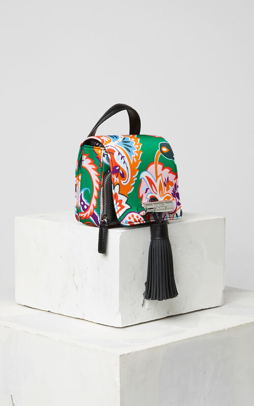 GRASS GREEN Cashmere print mini Sailor Bag for unisex KENZO