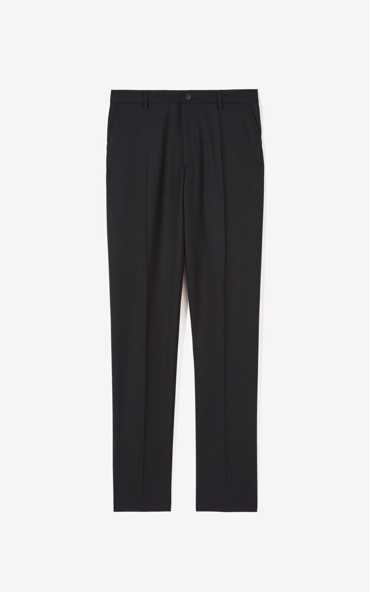 BLACK Slim-fit trousers for men KENZO