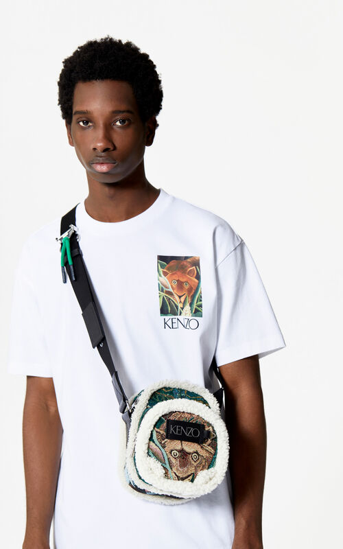 WHITE Jungle Tiger T-shirt for men KENZO