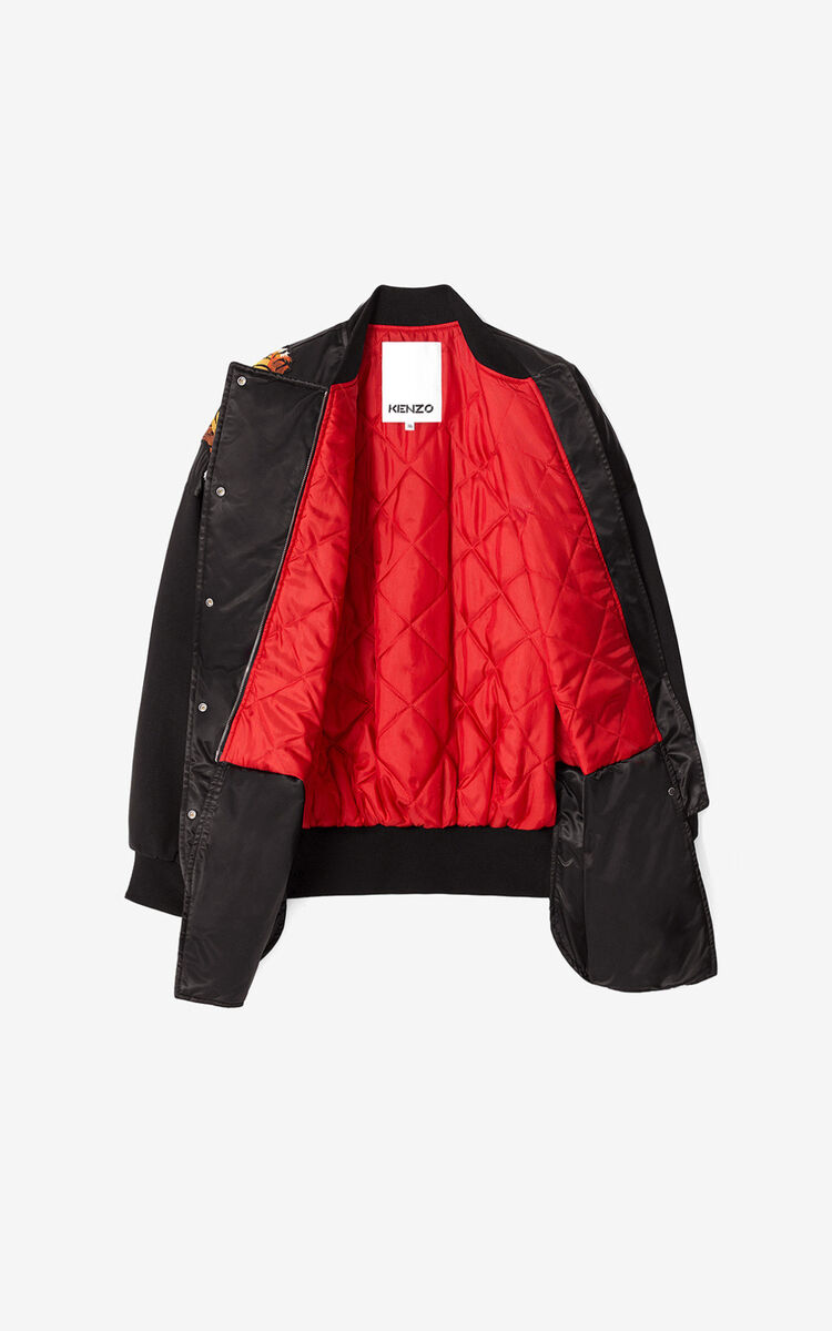 BLACK KENZO x KANSAIYAMAMOTO satin-effect bomber jacket for women