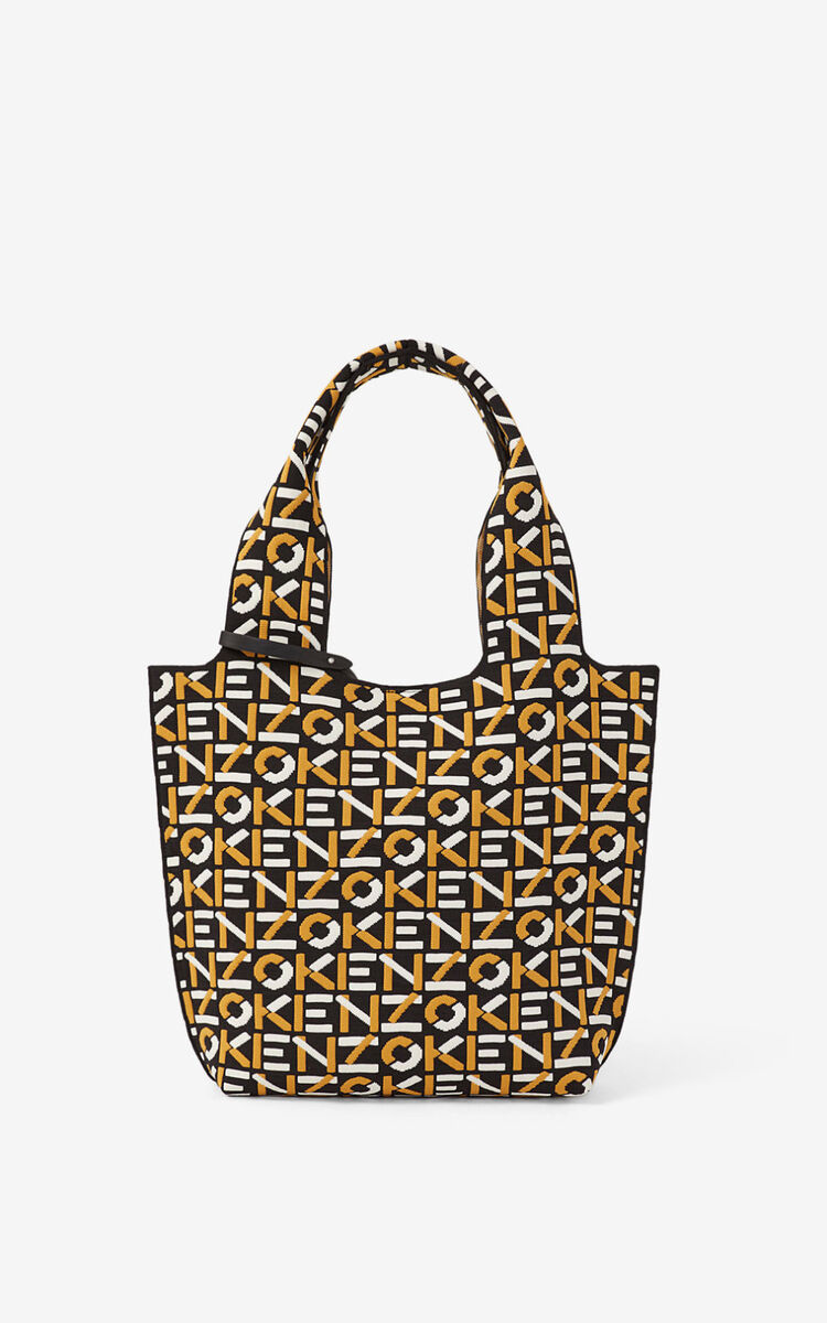GOLDEN YELLOW Skuba small monogram tote bag     for men KENZO