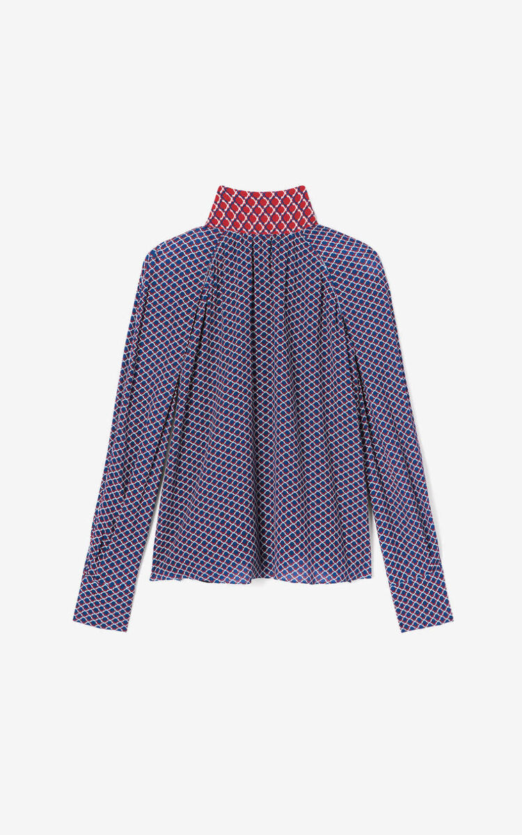 DUCK BLUE 'Fishnet' top for women KENZO