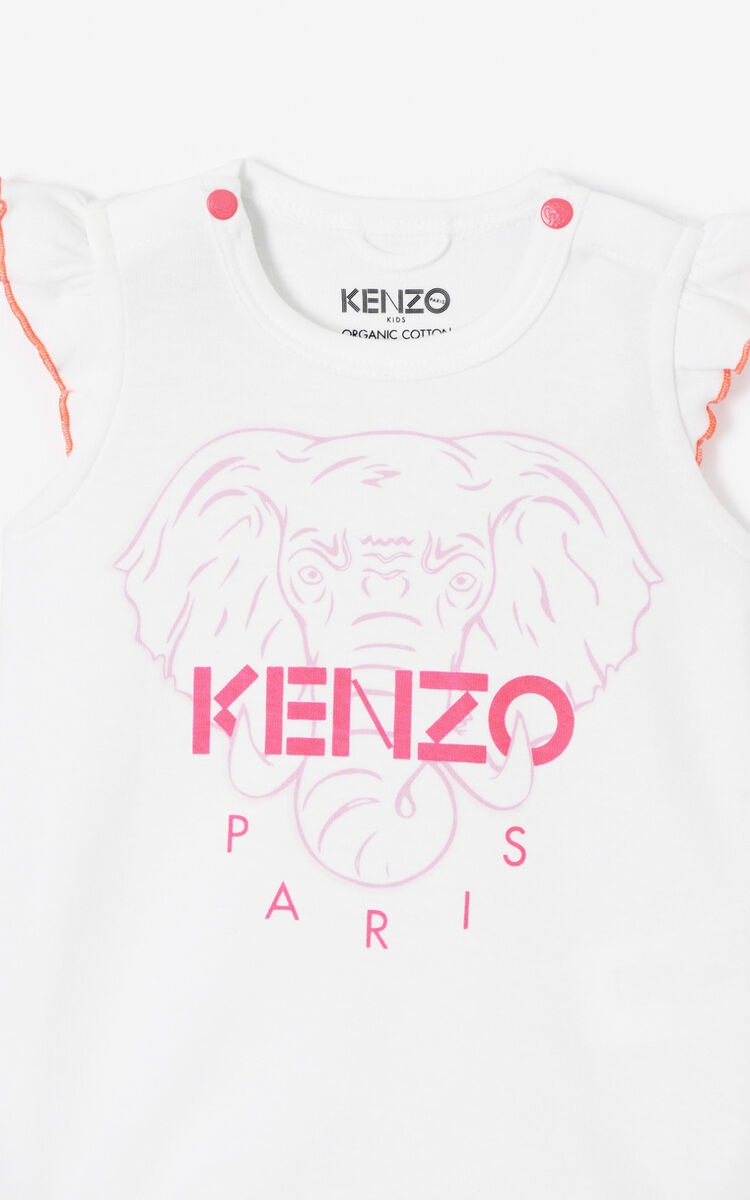 WHITE 'Disco Jungle' onesie for men KENZO