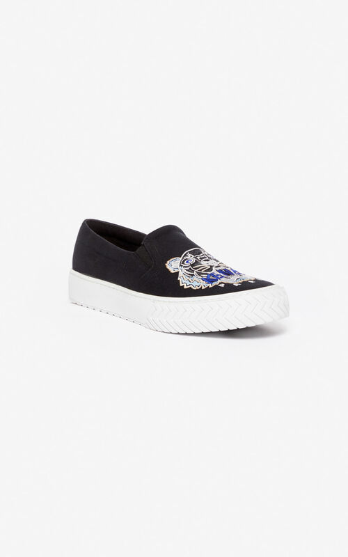 BLACK Slip-on K-Skate Tiger for unisex KENZO