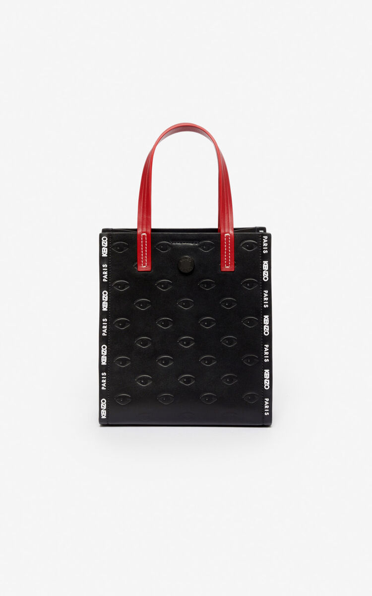 BLACK Small Blink multi-Eye tote bag for unisex KENZO