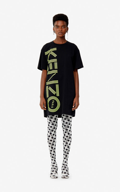 20acf027c7 dresses. BLACK Kenzo Logo T-shirt dress for women ...