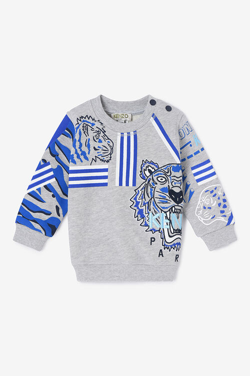 MIDDLE GREY Tiger Friends Sweatshirt  for men KENZO