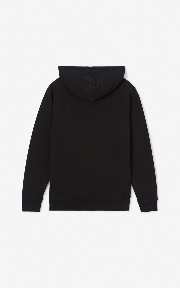 BLACK Hooded Tiger sweatshirt for women KENZO