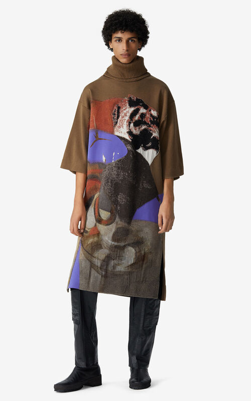MULTICOLOR Long tunic with Júlio Pomar illustration for men KENZO