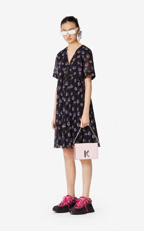 BLACK 'Passion Flower' dress for women KENZO