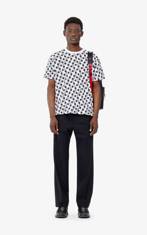 WHITE 'Wavy Dots' T-shirt for men KENZO