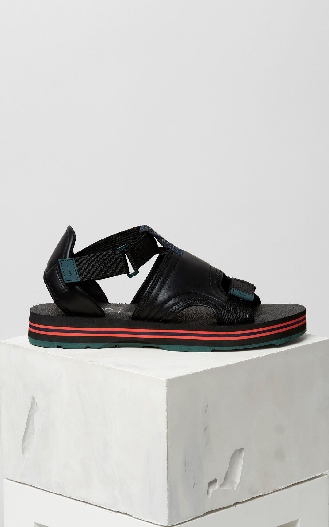 BLACK Papaya sandals for men KENZO