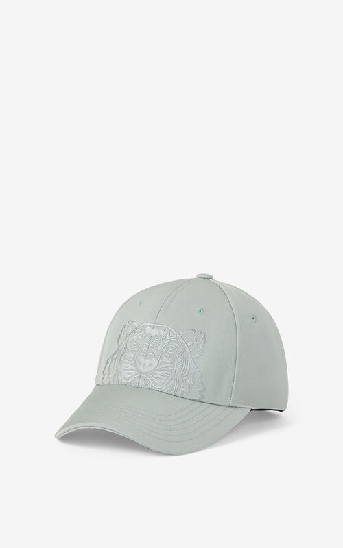 SAGE GREEN Canvas Kampus Tiger cap for unisex KENZO