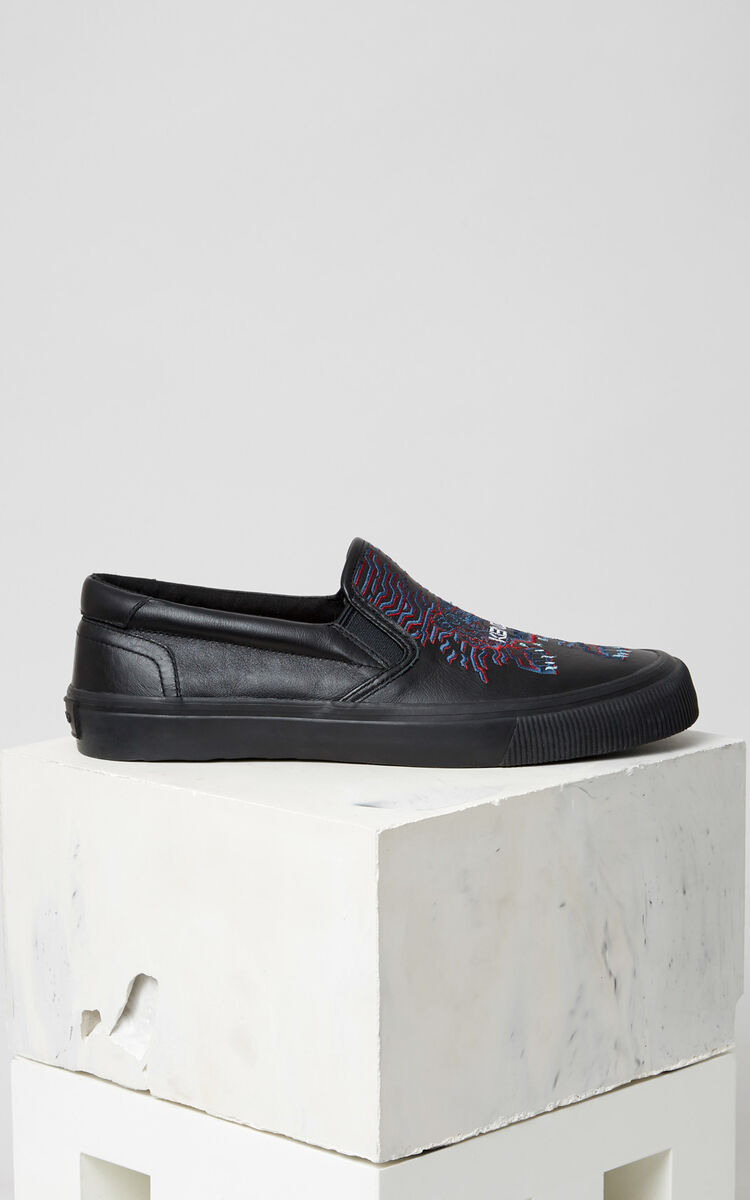 BLACK K-Skate' sneaker x 'Géo Tiger' for men KENZO