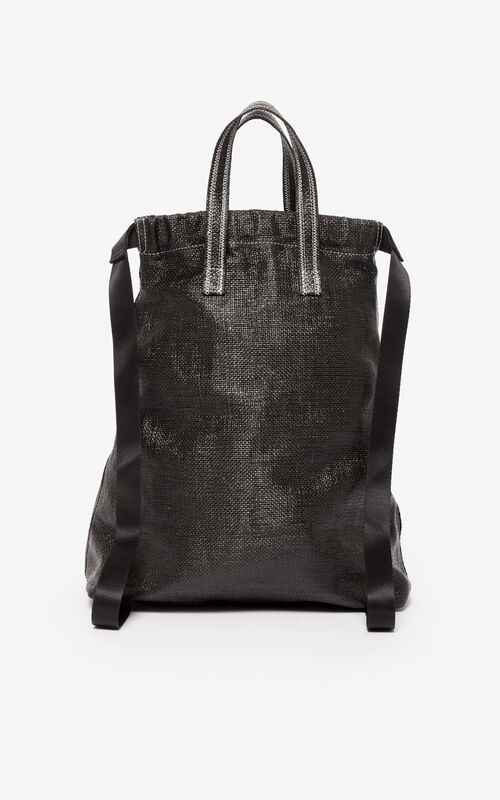 BLACK 'Rice Bags' drawstring backpack for unisex KENZO