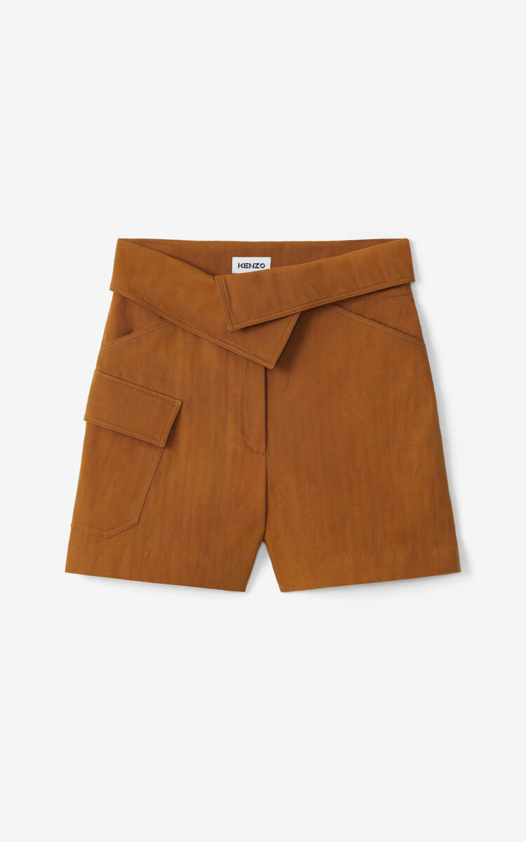 DARK CAMEL Cargo shorts for women KENZO