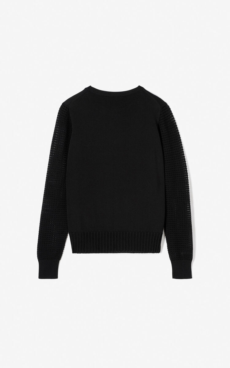 BLACK 'Phoenix' jumper for women KENZO