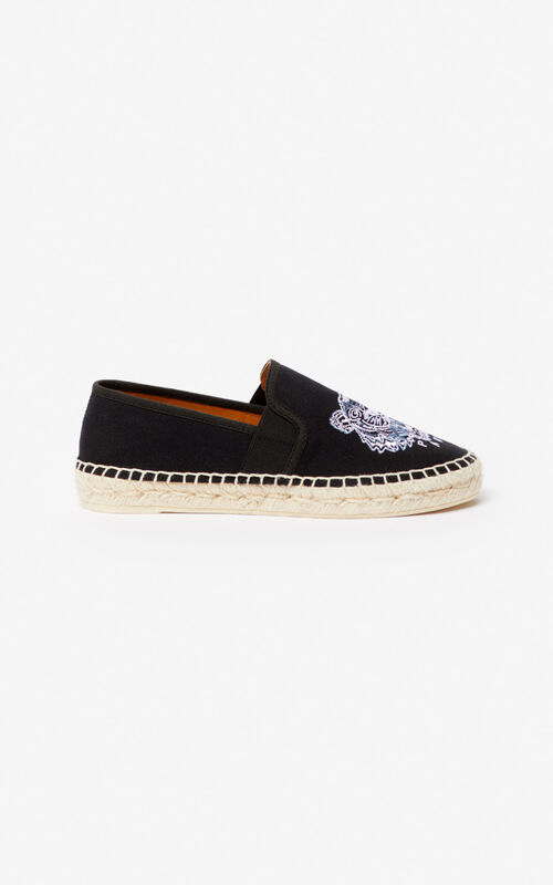 BLACK Tiger elasticated espadrilles for women KENZO
