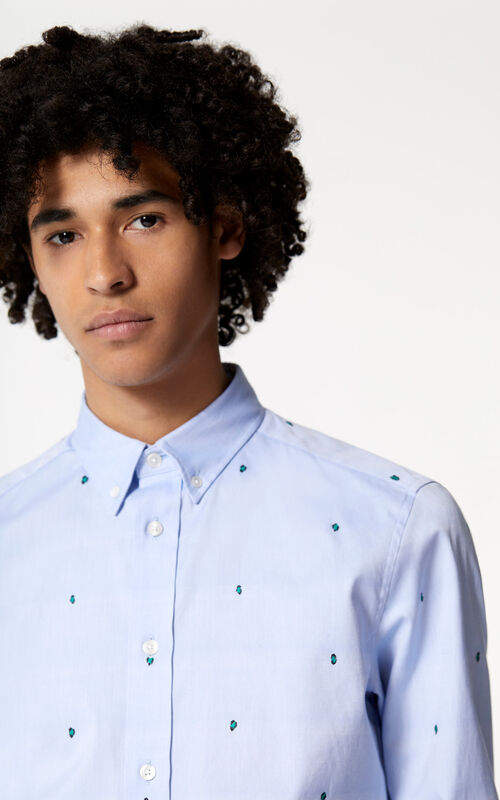 SKY BLUE 'Leopard' Shirt for men KENZO