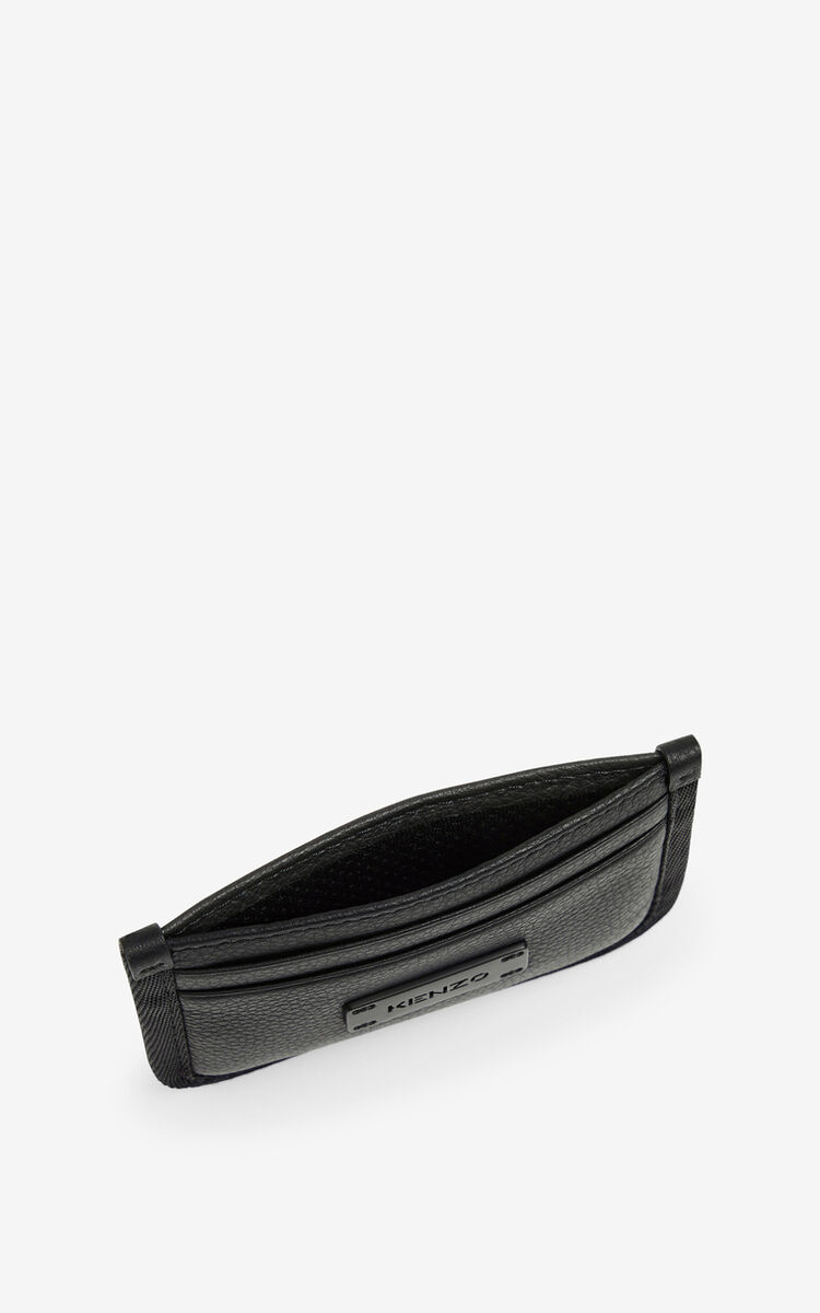 BLACK Courier leather card holder for men KENZO