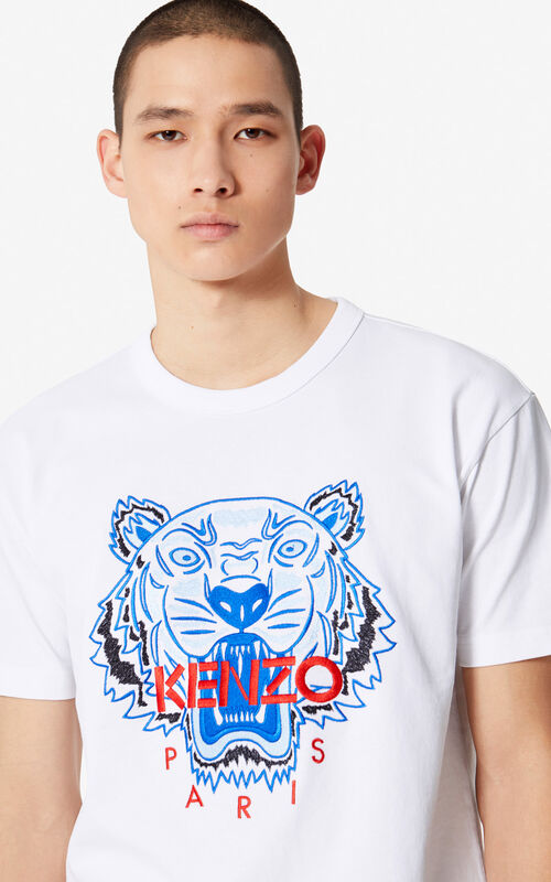 32274680 WHITE Tiger t-shirt for men KENZO ...
