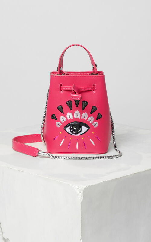 DEEP FUSCHIA Eye small tote bag for unisex KENZO