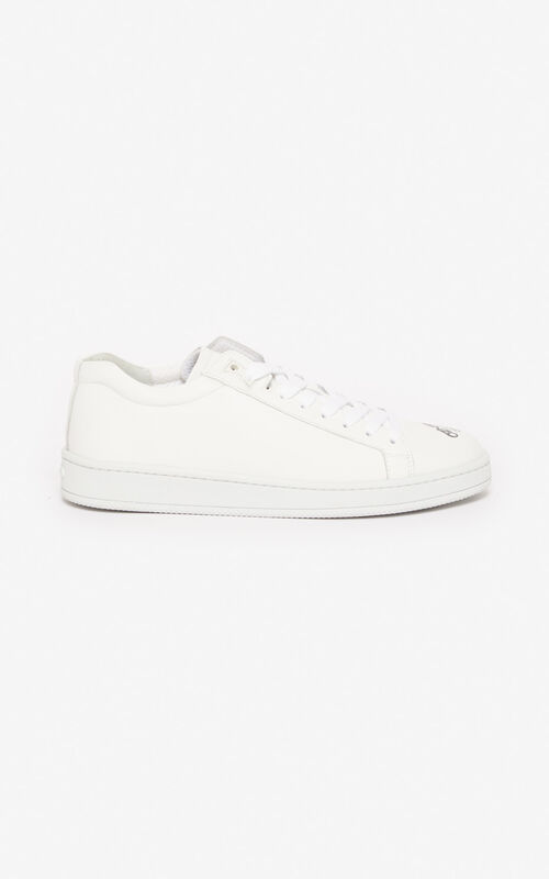 WHITE 'Kung Fu Rat' Tennix trainers for unisex KENZO