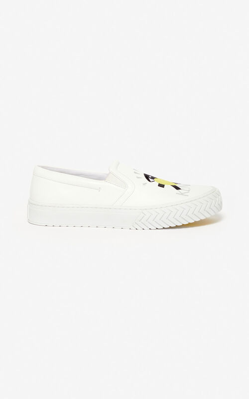 WHITE 'Cupid' K-Skate slip-on shoes for unisex KENZO