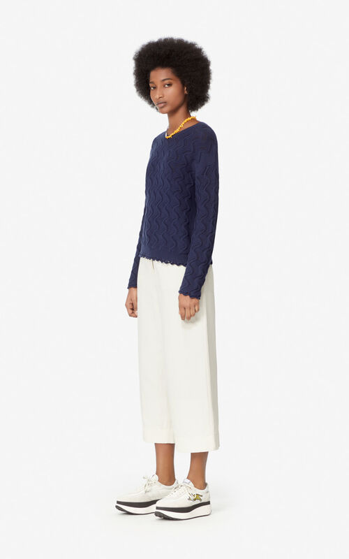 MIDNIGHT BLUE Openwork jumper for women KENZO