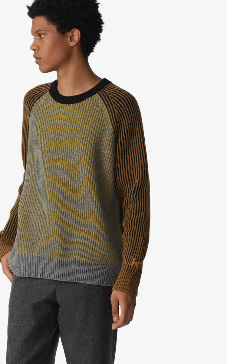DOVE GREY 'Fisherman' jumper for women KENZO