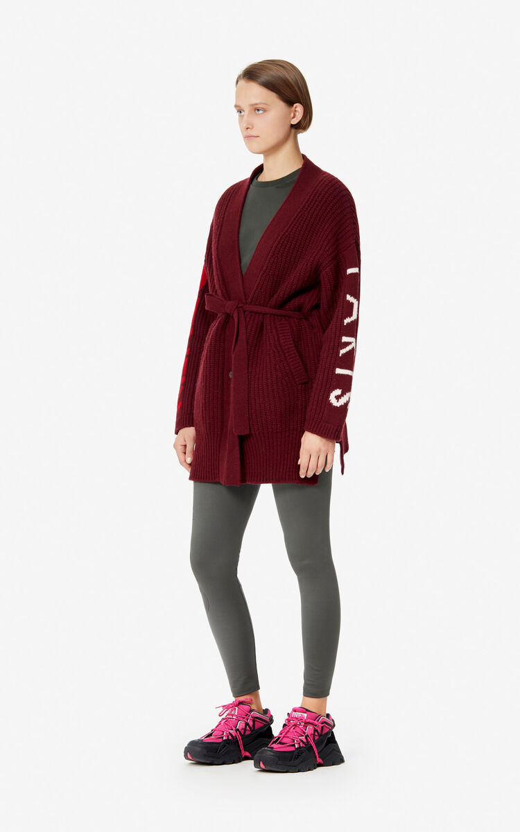 BORDEAUX KENZO Paris long cardigan for women