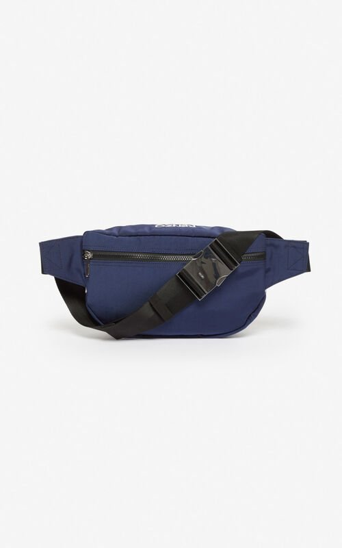 MIDNIGHT BLUE 'Colorblock Tiger' bumbag for unisex KENZO