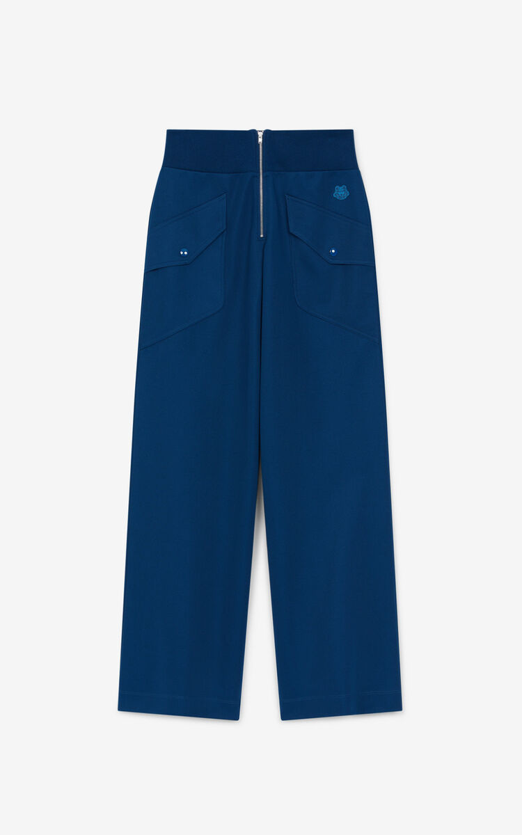 MIDNIGHT BLUE Tiger Crest wide-legged trousers for women KENZO