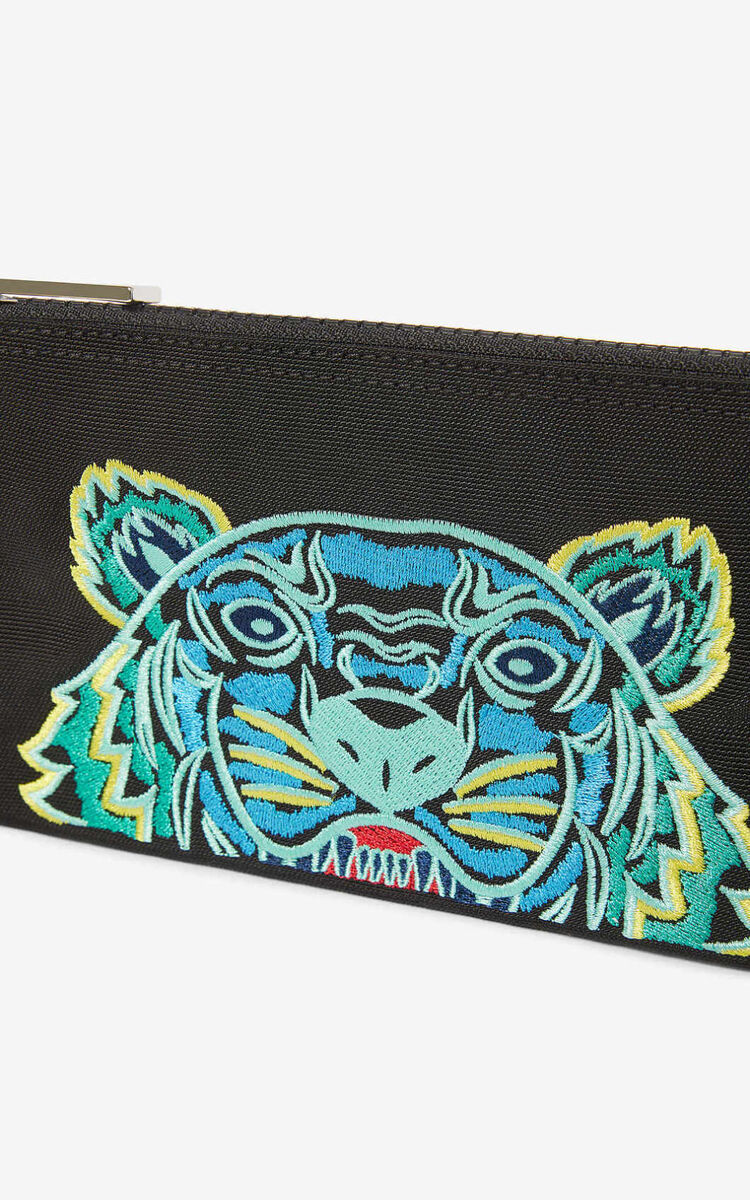 BLACK Tiger wallet for unisex KENZO