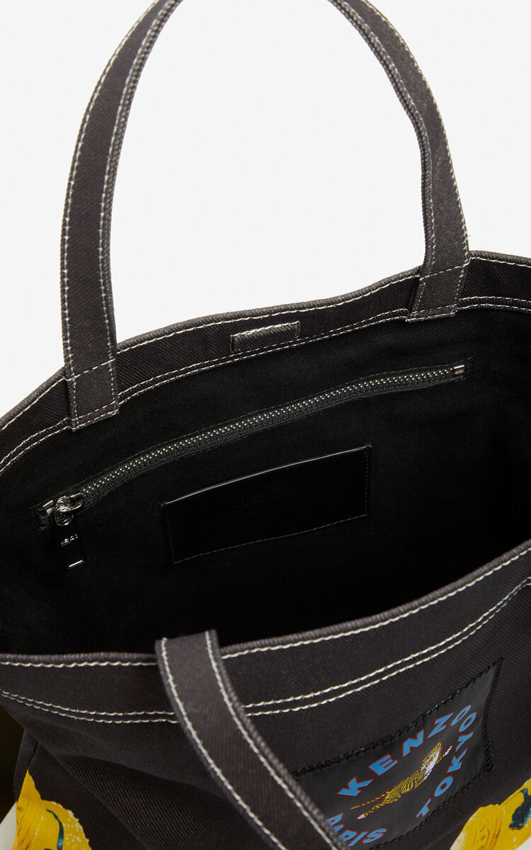 BLACK 'Tomato' tote bag for unisex KENZO