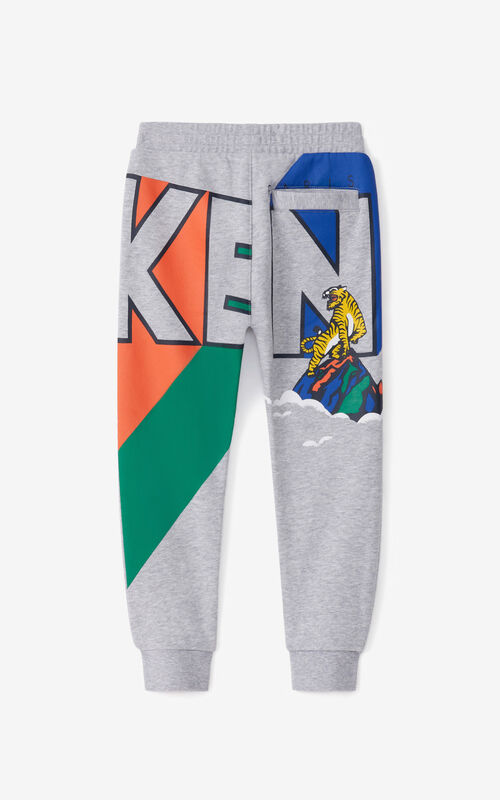 PEARL GREY 'Ventura' jogging trousers for unisex KENZO