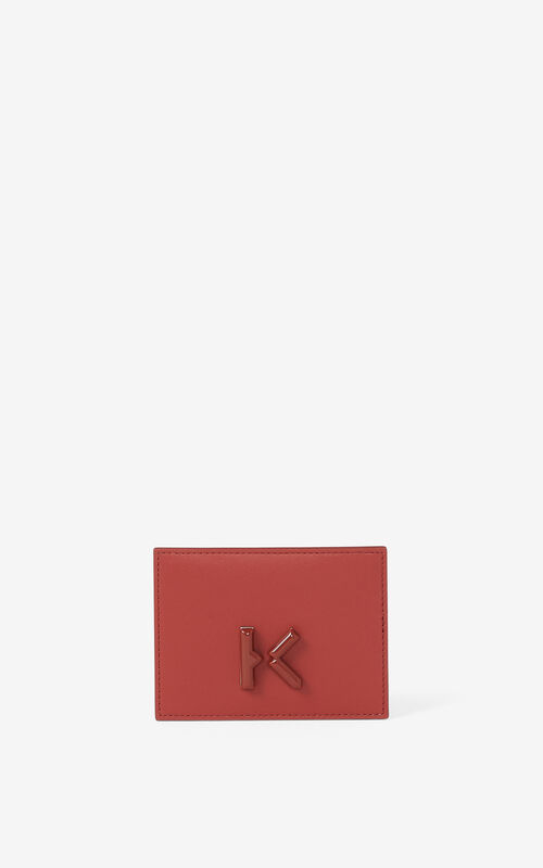 MOROCCAN BROWN KENZO K leather card holder for women