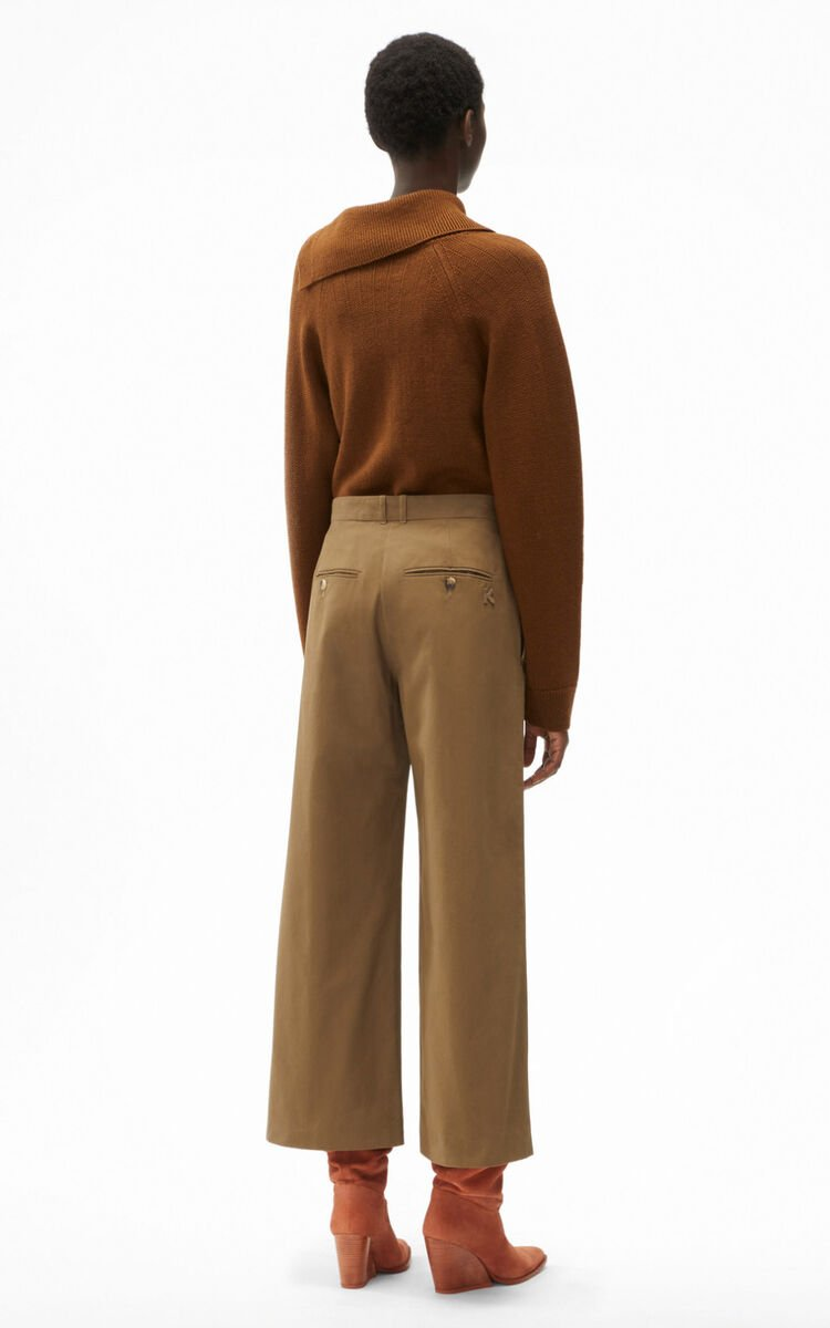 TAUPE Cropped flared trousers. for women KENZO