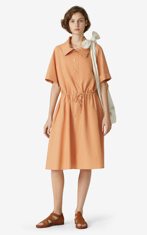 COGNAC Fitted shirt dress for women KENZO
