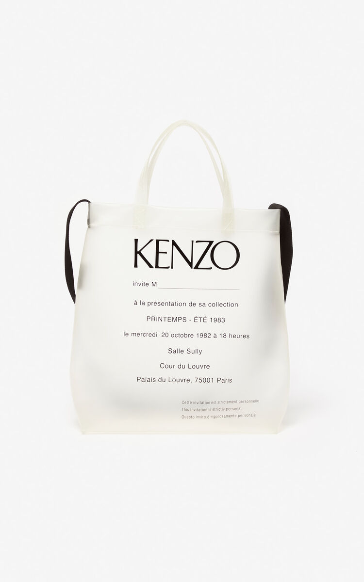 WHITE Invitation tote bag for unisex KENZO