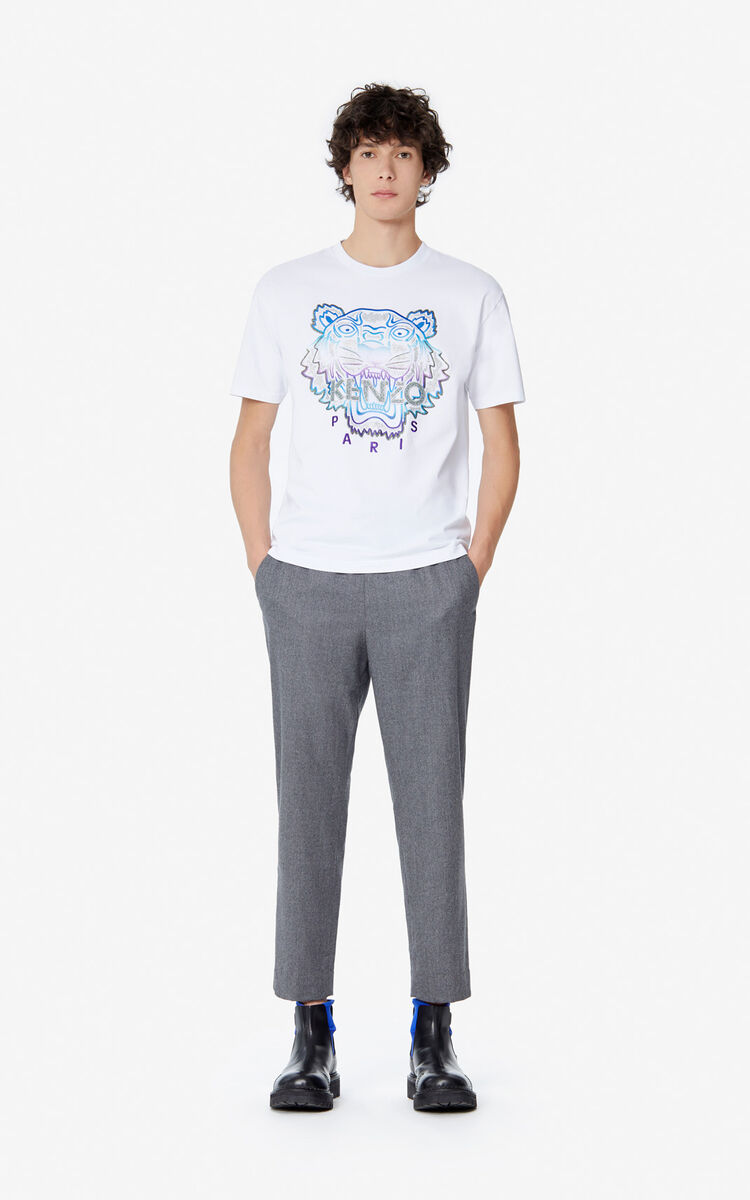 WHITE 'Holiday Capsule' Tiger T-shirt for men KENZO