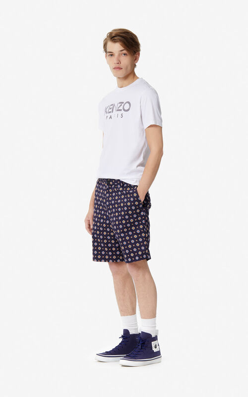 MIDNIGHT BLUE 'Médaillons' shorts for men KENZO